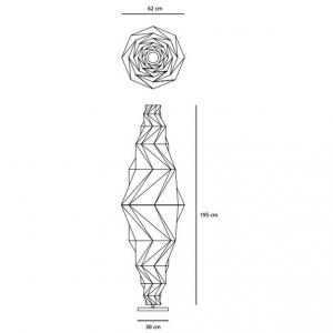 Artemide-Minomushi-Terra-Floor-Lamp-Dimensions