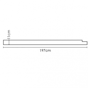 Flos-Riga-T8-Wall-Lamp-Dimensions
