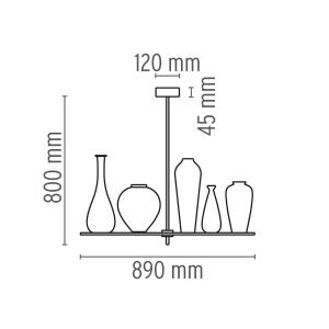 Suspension-FLOS-CICATRICES-DE-LUXE-5-Suspension-5-lumieres-80-Cristal-9662-1